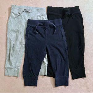 GAP 2T toddler boy navy black gray joggers bundle